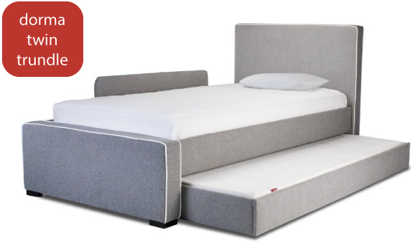 SHOP Monte Design Dorma Twin Bed with High Headboard and Low Footboard