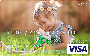 Personalized Easter Visa gift card