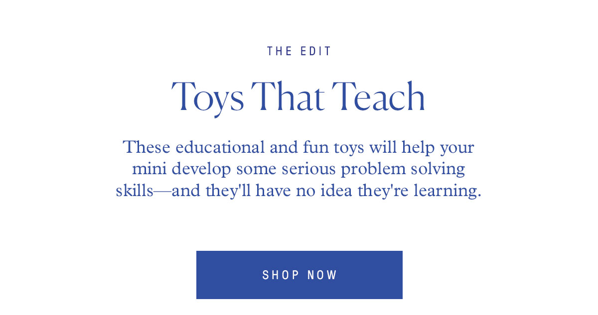 These educational and fun toys will help your mini develop some serious problem solving skills—and they'll have no idea they're learning.