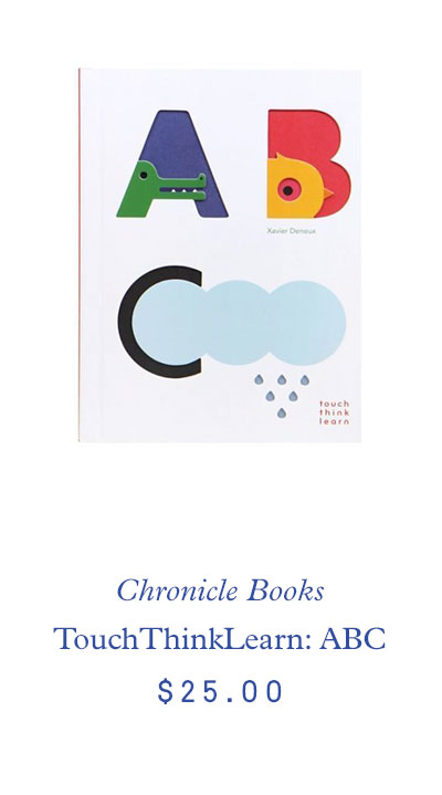 Chronicle Books TouchThinkLearn: ABC $25.00