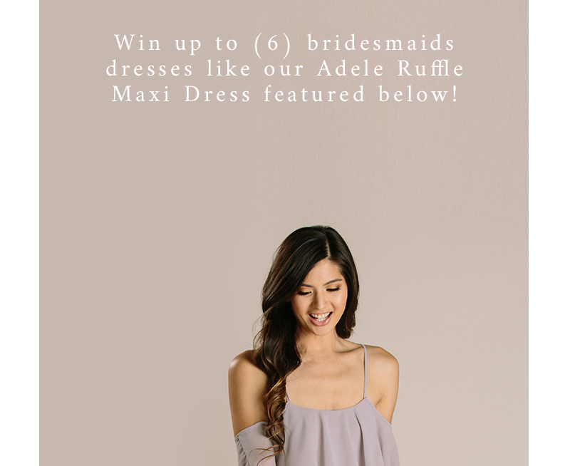 morning lavender's bridesmaids giveaway is here and it's the last week!