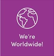 We're Worldwide!