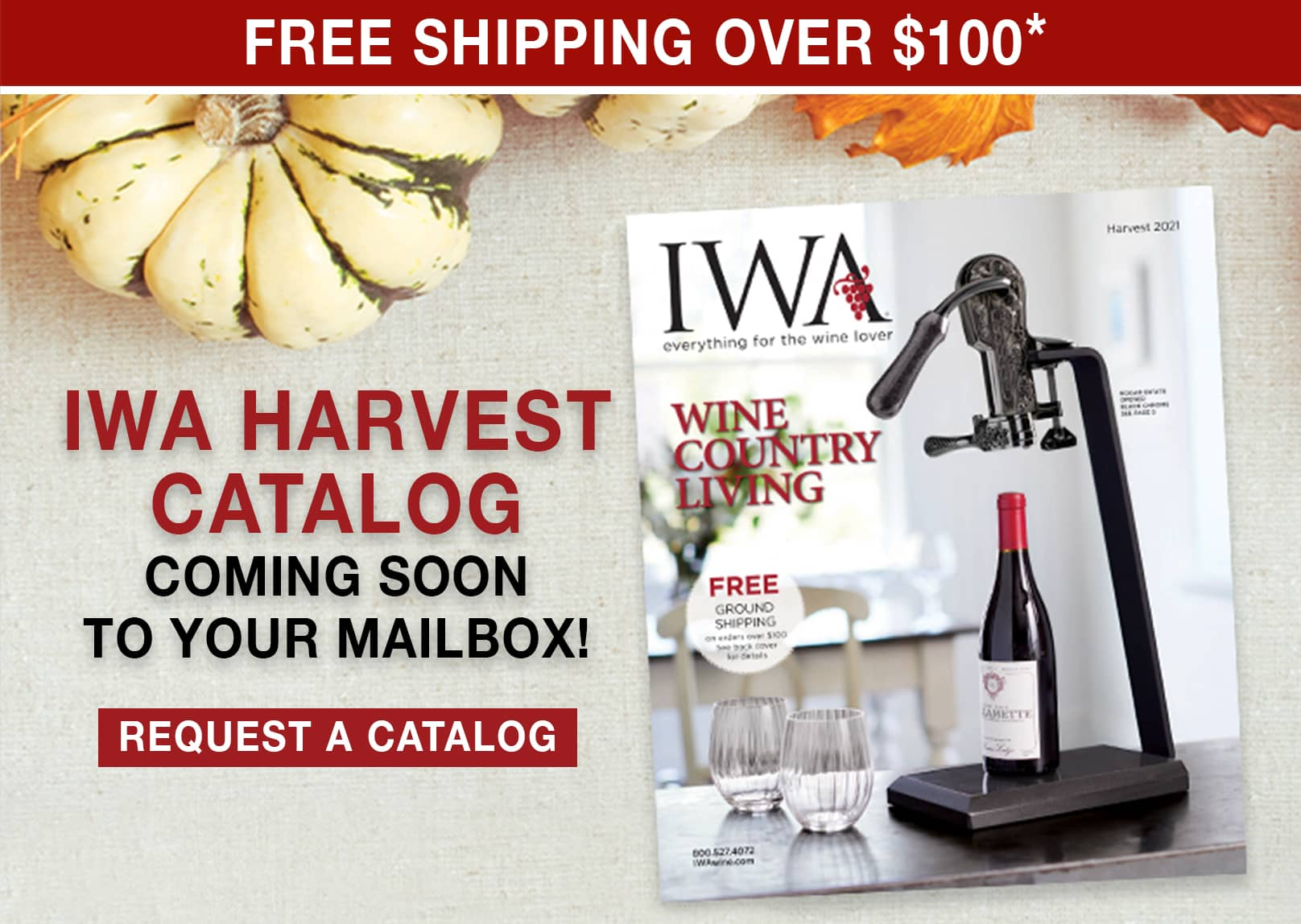 IWA Harvest Catalog Coming Soon to Your Mailbox - Free Shipping Over $100 Use Code: FS21W