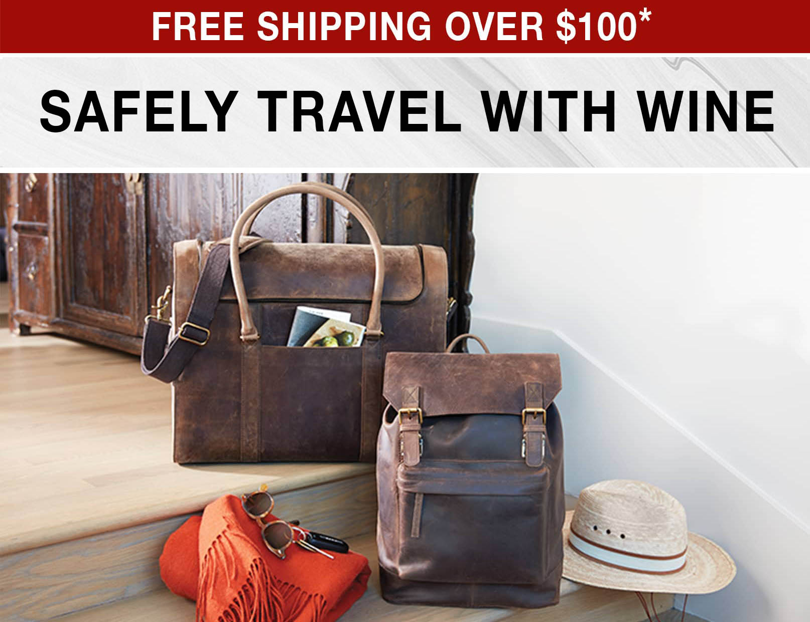Safely Travel With Wine - Free Shipping Over $100 use code FS21WEB