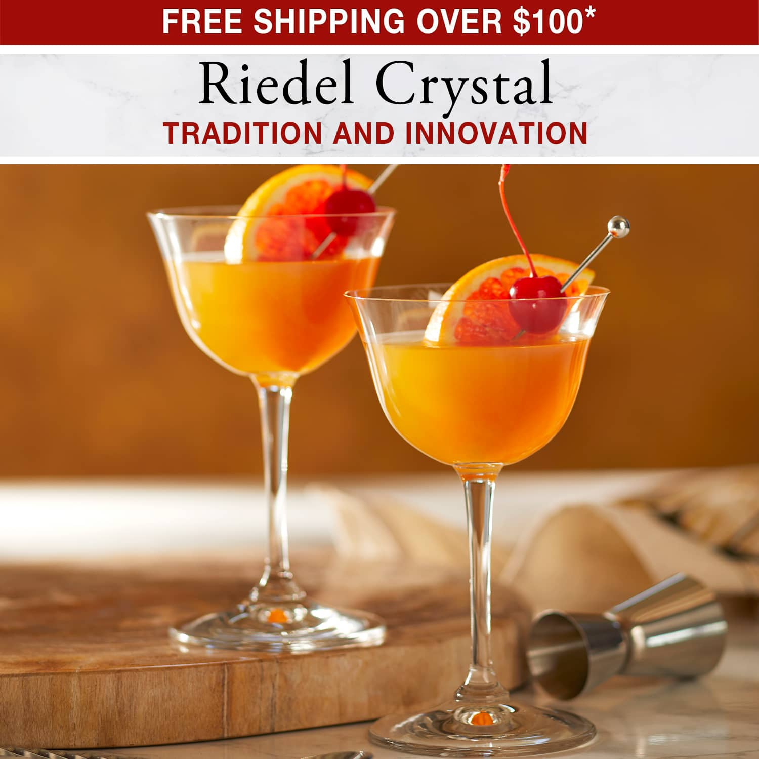 Riedel Crystal Tradition and Innovation - Free Shipping Over $100*