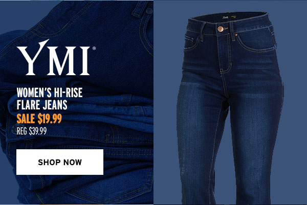 YMI Women's Hi-Rise Flare Jeans - Click to Shop Now