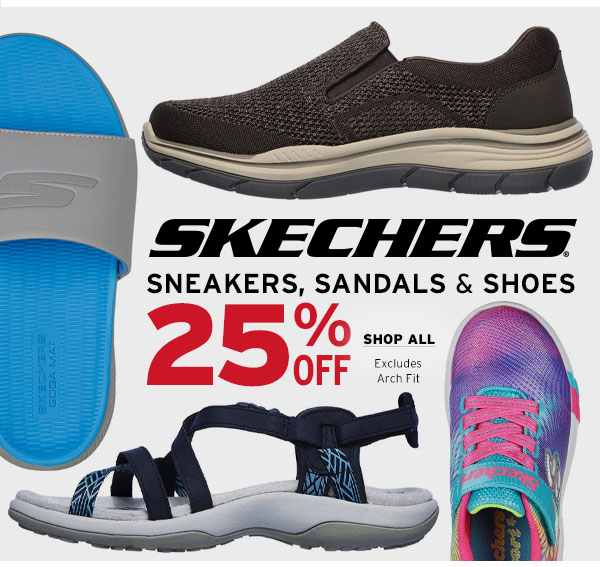25% OFF Skechers Sneakers, Sandals & SHoes - Click to Shop All