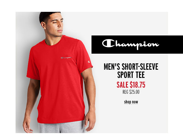 Champion Men's Short-Sleeve Sports Tee - Click to Shop Now