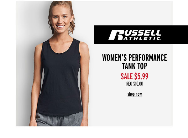 Russell Athletic Women's Performance Tank Top - Click to Shop Now