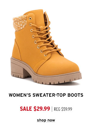 Women's Sweater-Top Boots - Click to Shop Now