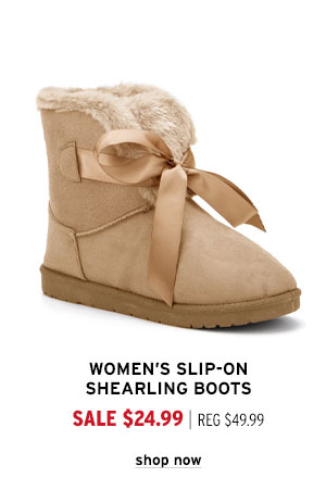 Women's Slip-On Shearling Boots - Click to Shop Now