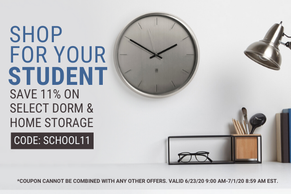 Save 11% On Select Dorm and Home Products - Code: SCHOOL11
