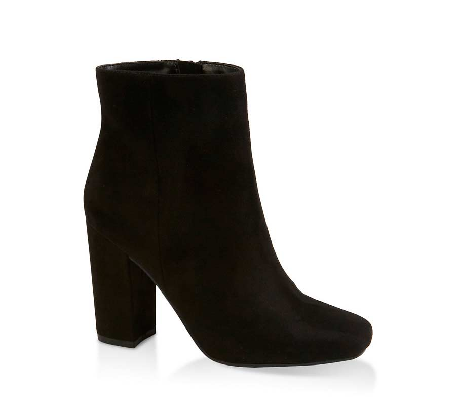 Square Toe Ankle Booties