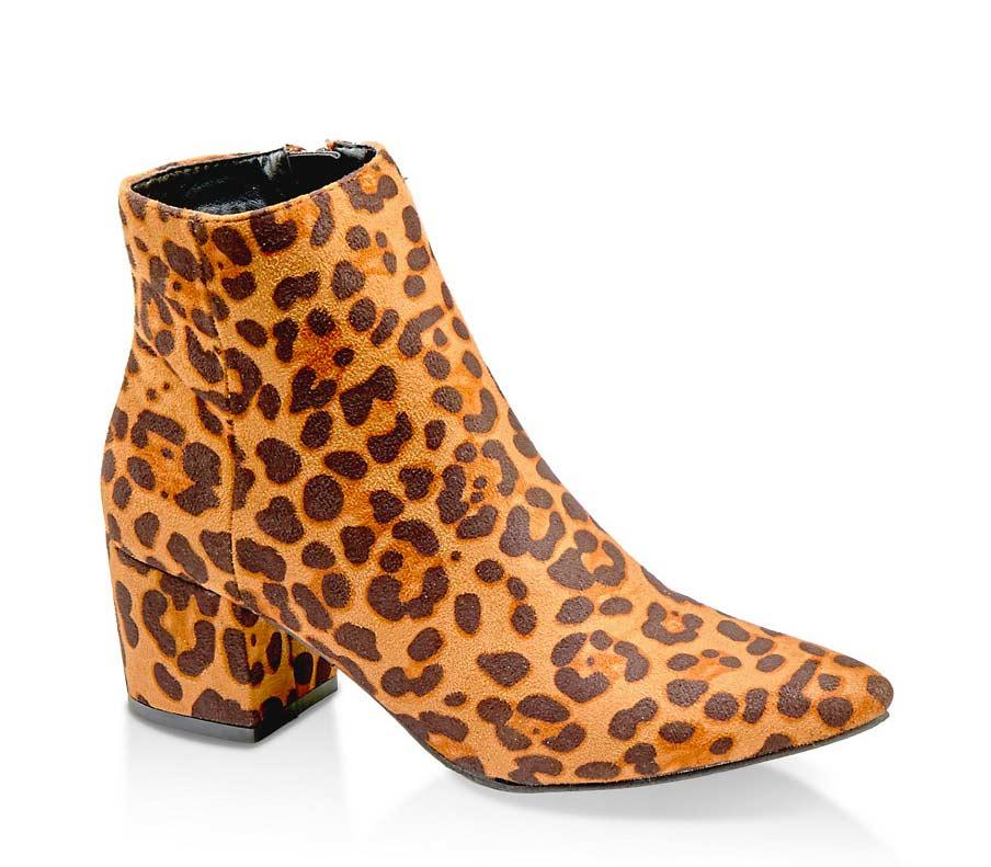 Block Heel Pointed Toe Booties