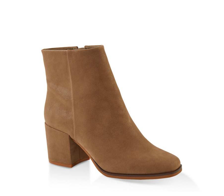 Square Toe Block Heel Booties