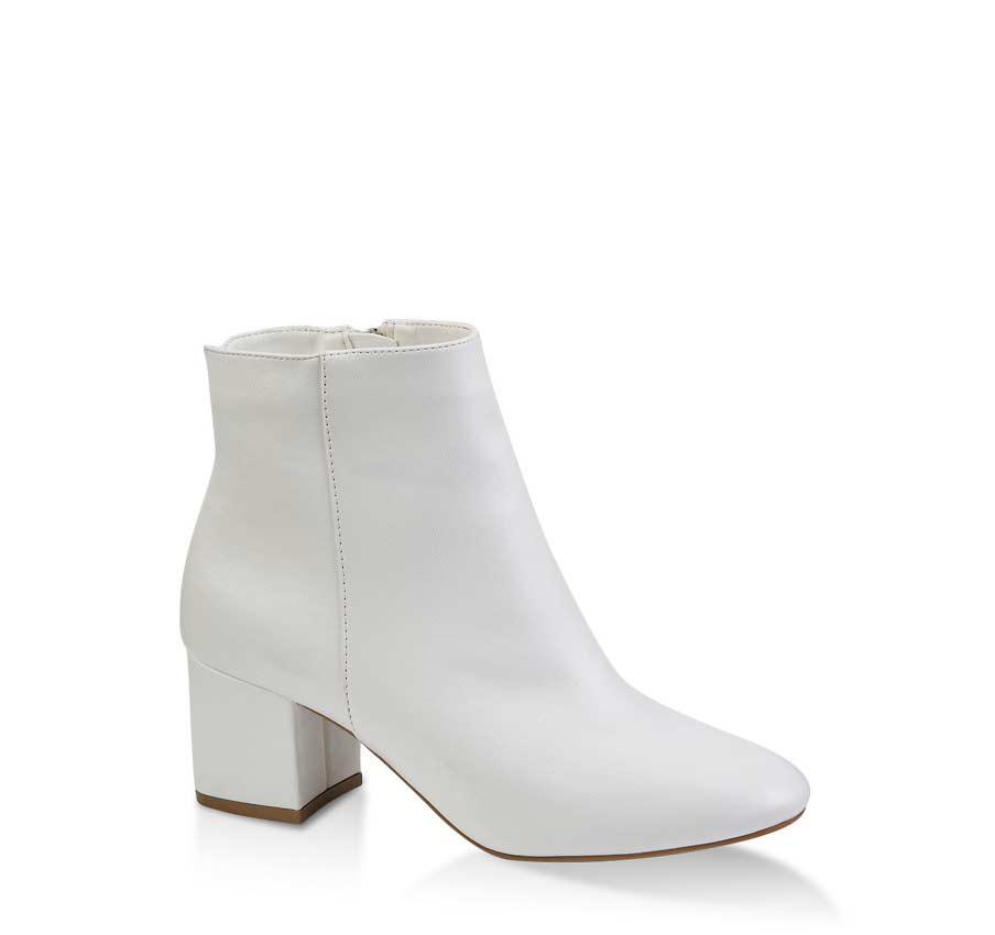Almond Toe Block Heel Booties