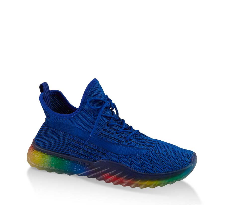 Rainbow Sole Knit Sneakers