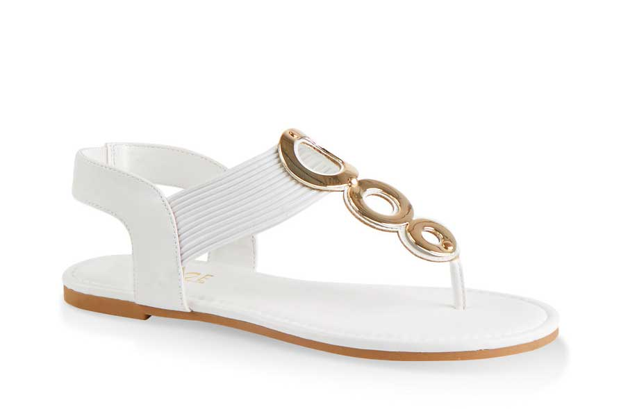 Triple Ring Corded Thong Sandals