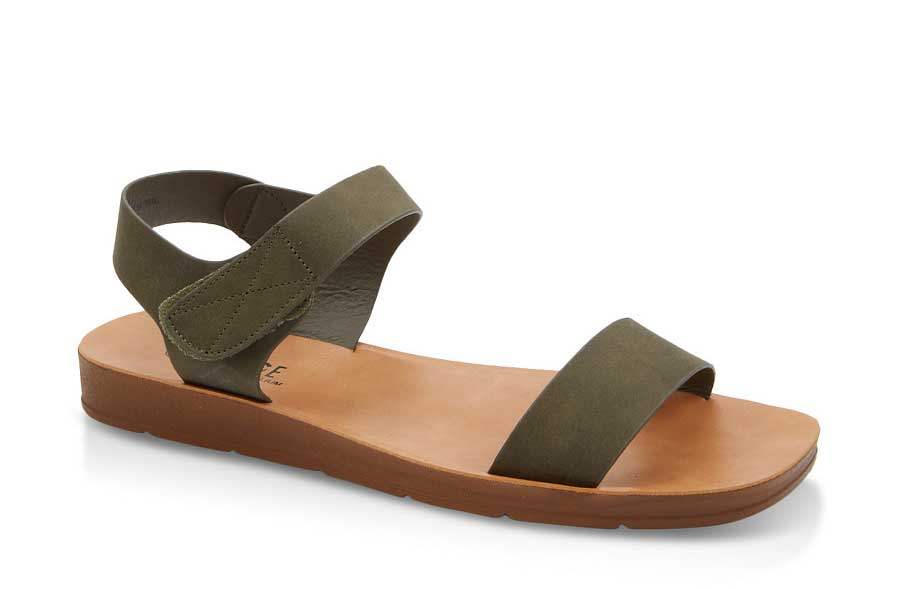 Solid Velcro Strap Sandals