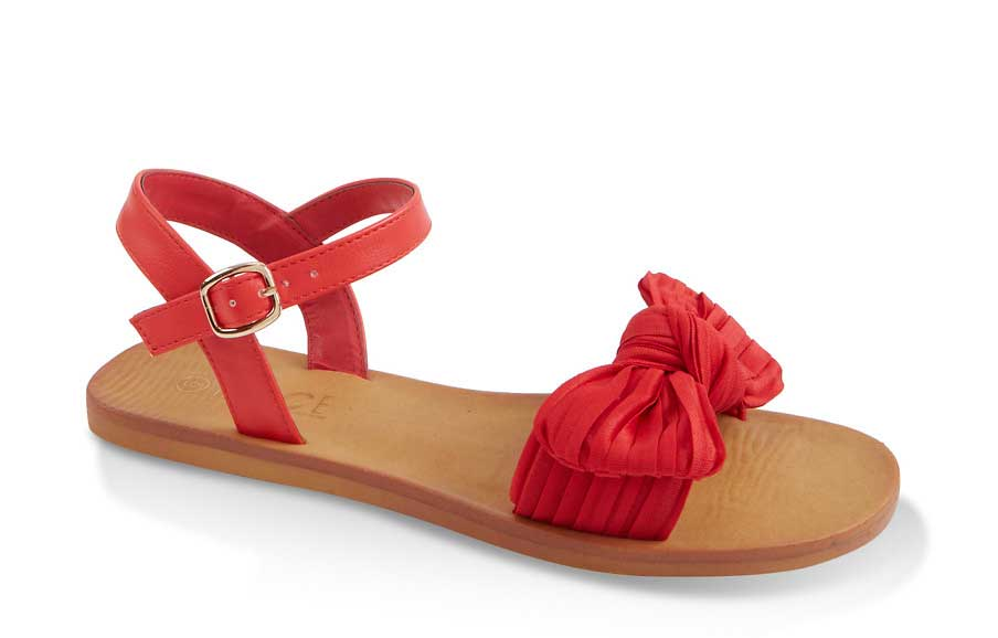 Knotted Bow Ankle Strap Sandals