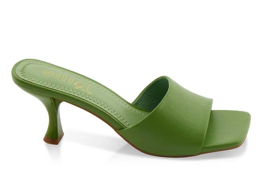 Flare Heel Sandals
