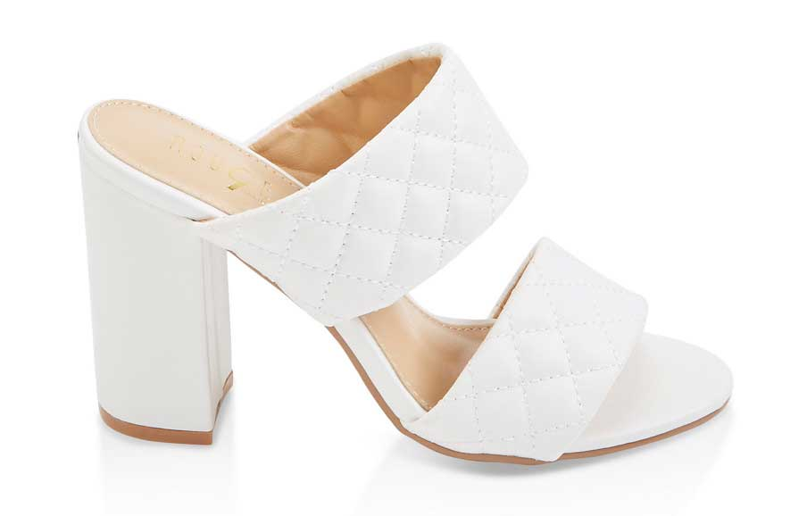 Quilted High Heel Sandals
