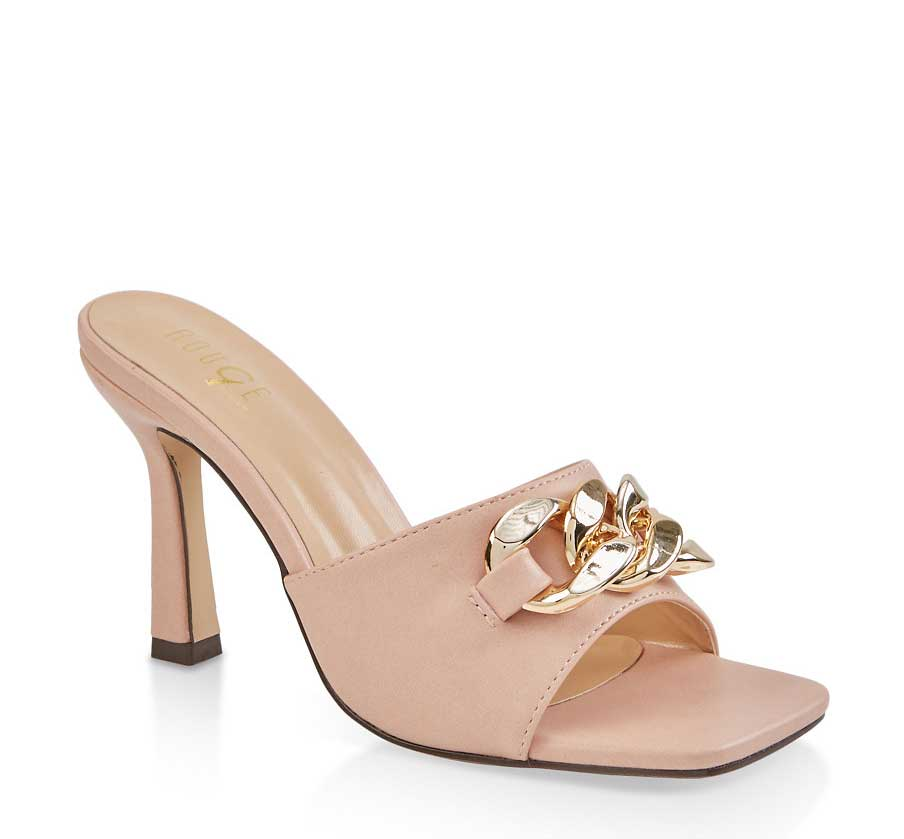 Chain Detail High Heel Sandals