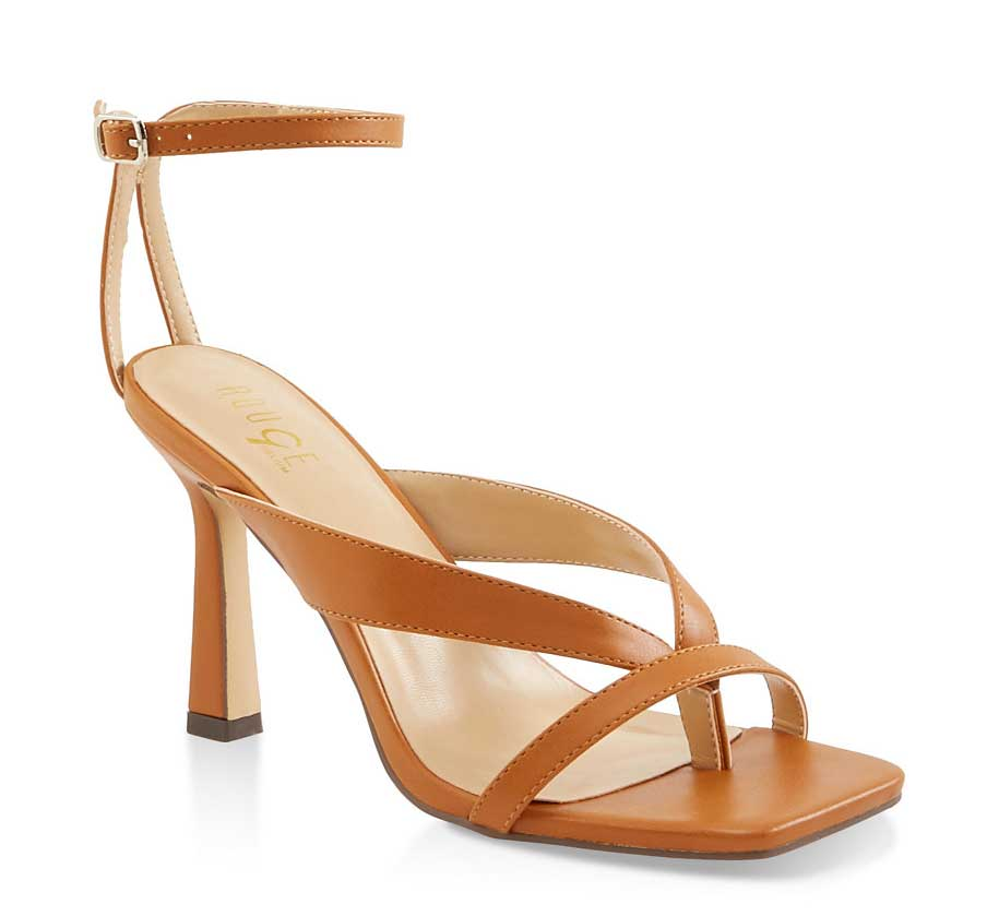 Strappy Square Toe High Heel Sandals