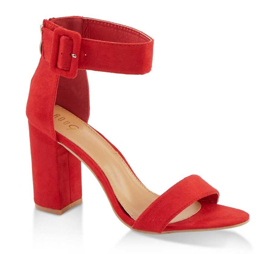 Buckle Ankle Strap High Heel Sandals