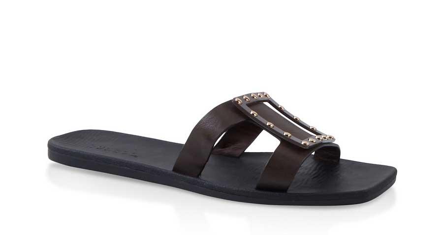 Studded Square Slide Sandals