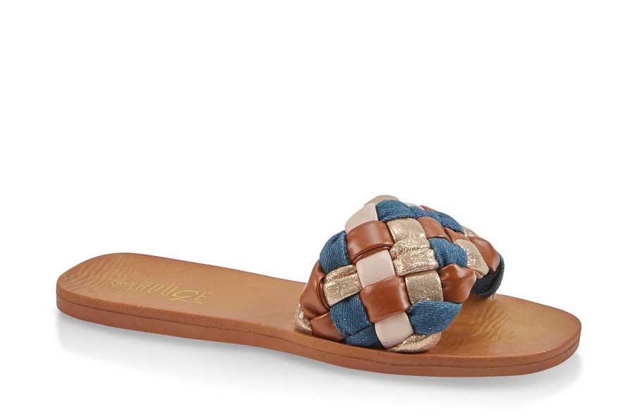 Braided Single Band Slide Sandals