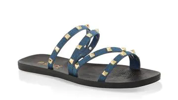Studded Strap Slide Sandals