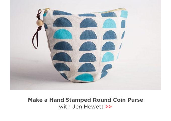 Make a Hand Stamped Round Coin Purse