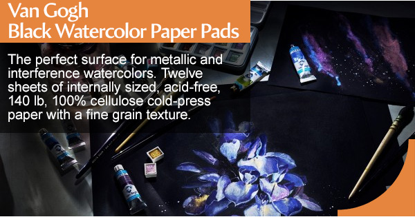 Shop Van Gogh black watercolor pads