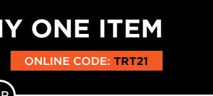 20% off one item code TRT21