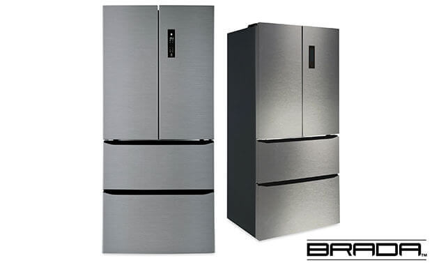 15.6 Cu. Ft. French-Door Refrigerator with Frost-Free Design.